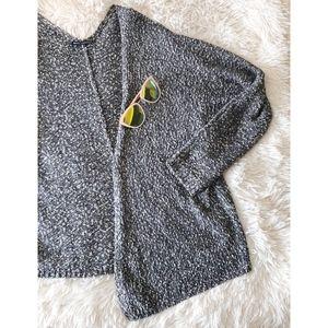 BRANDY MELVILLE grey speckled Caroline cardigan